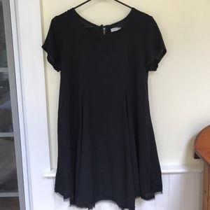 Silence + Noise pleated babydoll dress